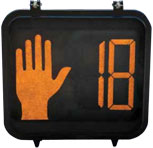 Uniform Appearance Countdown Pedestrian Signals